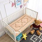 ADSRO Children Nap Mat, Kindergarten Mattress Baby Insulation Pad Waterproof Crib Sponge Mat Adult Menstrual Pad Leakproof (Camel)