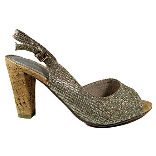 Marco Tozzi 2-2-29600-26-953 - Zapatos de vestir para mujer - 953GOLD STRUCTURE