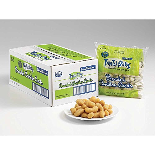 Lamb Weston Tantalizers Breaded Yellow Cheddar Cheese Curd, 3 Pound -- 6 per case. by Lamb Weston