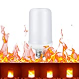 Tomshine LED Flame Effect Fire Light Bulbs 2 Lighting Modes E27 SMD2835 99 LEDs Lamp with Flicker Emulation Atmosphere Decorative for Home,Garden,Party,Bar,Wedding,Festival Decora