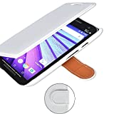 Motorola Moto G (2nd Gen, 2014) Wallet Case, Tisuns [Layered Dandy][White] - [Ultra Slim][Wallet Case] - Leather Flip Cover With Credit Card Slot for Motorola Moto G (2nd Gen, 2014) Case - MOTO G2 CASE