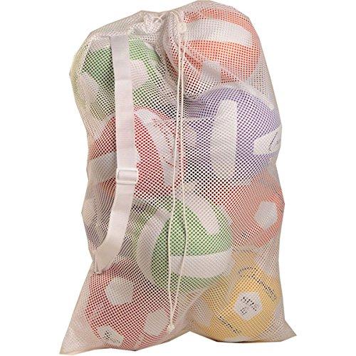 Champion Sports Mesh Equipment Bag (White, 12 x 18-Inch)
