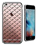Luxendary Tennis Racket & Ball Pattern Ultra Slim Clear Case with Crome Finish for iPhone 6/6S