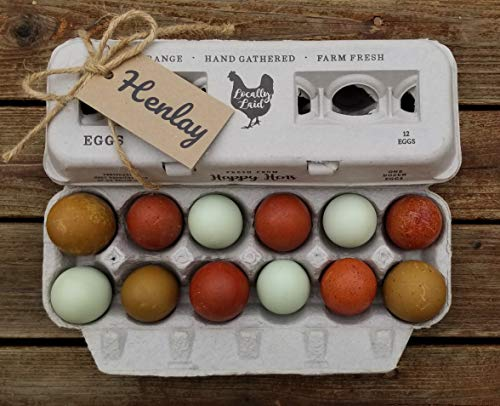 Egg Cartons- Printed Recycled Egg Carton, Bulk 250 Egg Cartons per Bundle, Attractive Farm Fresh Design w/FDA reqs, One Dozen Eggs, Recycled Paper Pulp Cardboard, Small Medium Large & XL Eggs by Henlay (Image #7)