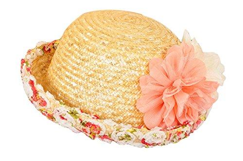 Outflower 帽子 麦わら帽子 レディース 春夏 おしゃれ UVカット 自転車 成年 韓国風 旅行 ゴルフ 草編み 花卉図柄 日よけ帽子 かわいい 通風性 速乾 高品質 ビーチ