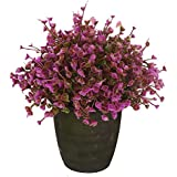 VGIA home decor Purple artificial retro potted plant,plastic flower ,mini tree.