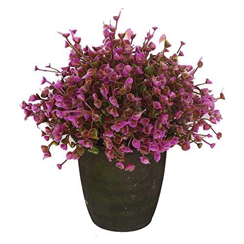 VGIA home decor Purple artificial retro potted plant,plastic flower ,mini tree.