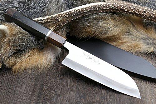 Yoshihiro Hayate ZDP-189 Super Blue High Carbon Stainless Steel Santoku Chef's Knife 6.5 Inch by Yoshihiro