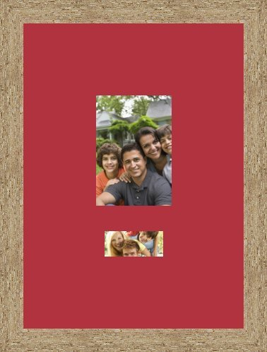 Picture frames Pêle Mêle Red Frame 1 photo 13 x 18 Photo and 1 10x5 ...