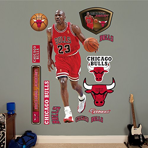 NBA Chicago Bulls Michael Jordan Fathead Real Big Decals, 3'1'' x 6'6'' by Fathead Peel and Stick Decals