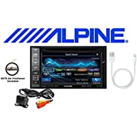 Alpine Navigation DVD CD Receiver w/ 6.1 Monitor, Backup Camera, Lightening to USB Cable and a FREE SOTS Air Freshener