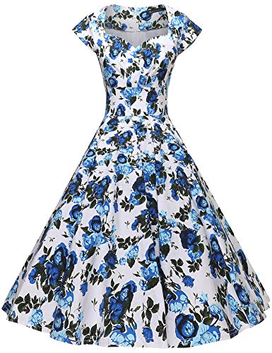 GownTown Womens Dresses Party Dresses 1950s Vintage Dresses Swing Stretchy - Stripe Cocktail