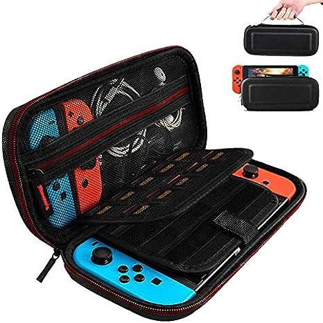 Funda para Nintendo Switch,Case de protección para Nintendo Switch, Bolsa Transporte Ligera Case con más Espacio de Almacenamiento para 19 Juegos para Accesorios Nintendo Switch: Amazon.es: Videojuegos
