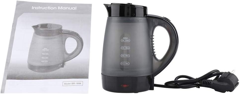 0.4L Elektrische Wasserkocher Transparent Schnelle Wasser Heizung Kochenden Topf