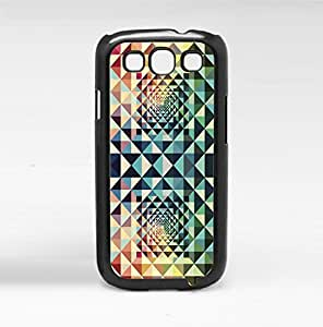 Rainbow Kaleidoscope Geometric Shapes Hard Snap on Phone Case (Galaxy s3 III)