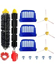 Accessories Kit for iRobot Roomba 600 Series 605 615 616 620 621 630 635 650 652 660 665 680 690 695, Replacement Parts Brushes & Filters with Screws for Vacuum Cleaner Robot (15 in 1)