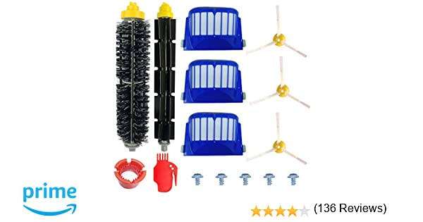 Kit Cepillos Repuestos de Accesorios para Aspiradoras iRobot Roomba Serie 600 605 610 615 616 620 625 630 631 632 639 650 651 660 670 680 681 ...
