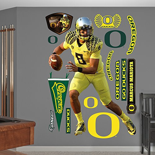 NCAA Oregon Ducks Marcus Mariota Fathead Real Big Decals, 55''W x 75''H by Fathead Peel and Stick Decals
