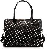 Kate Spade Calista Spot Nylon Black Polka Dots Laptop Handbag