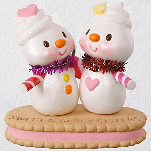 (Hallmark Keepsake Christmas Ornament 2018 Year Dated, Sweet & Sassy Sisters)