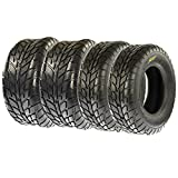 Set of 4 SunF A021 ATV UTV Road Tires 25x8-12 Front 25x10-12 Rear, 6 Ply