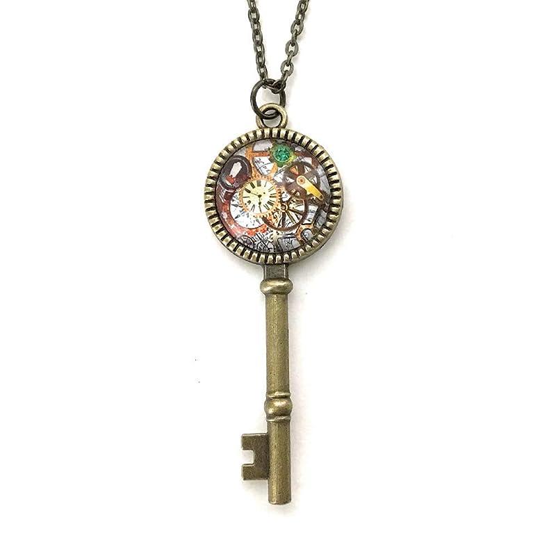 Perception Necklace  Bat Necklace  Skeleton Key Necklace  Gothic Fashion  Steampunk Jewellery  Spirit Animal