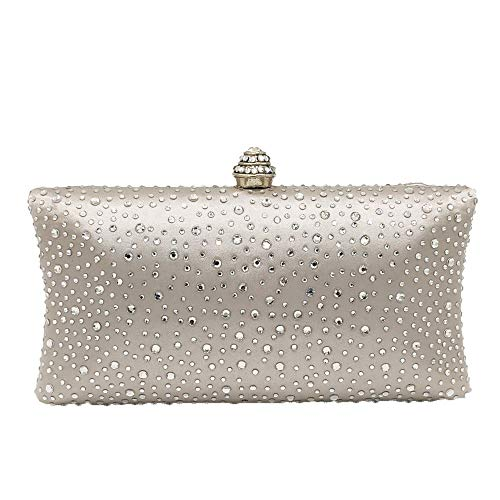 Bags Party Bag White Box Clutches Prom Purse Bridal Women's Evening Color Handbag Evening Handbags Occasion Special Crystal Purse Xuanbao bag Evening Clutch Clutch Black YgUq7z