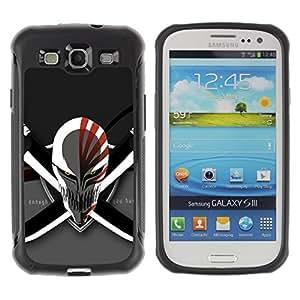 Fuerte Suave TPU GEL Caso Carcasa de Protección Funda para Samsung Galaxy S3 I9300 / Business Style Evil Skull & Swords
