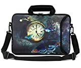 RICHEN 11'' 11.6'' 12'' 12.5'' 13'' inch Case Laptop/Chromebook/ Ultrabook/Notebook PC Messenger Bag Tablet Travel Case Neoprene Handle Sleeve with Shoulder Strap (Clock &Butterfly)
