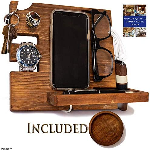 Small Homemade Phone Stands Cut Out Of Wood Varnished Set Of 3 Items Designer