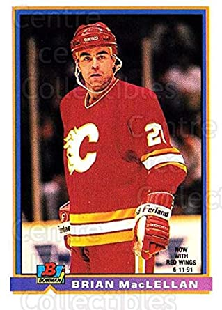 c43ead25f78e Amazon.com  (CI) Brian MacLellan Hockey Card 1991-92 Bowman (base ...