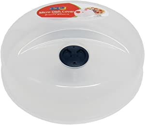 """Superior Quality Click Plastic Microwave Plate Cover with Cooling Vent, 9.75"""" x 3.75"""""""