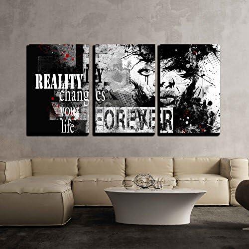 Teenage Girl on Grunge Background Grunge Style Generation x3 Panels