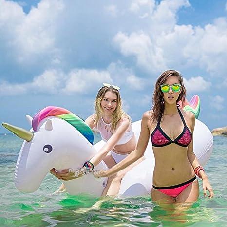 Beach Toy ® - Unicornio gigante, Flotador para Piscina, especial Pool Party Mega flotador 120X 270 X 140 cm: Amazon.es: Juguetes y juegos
