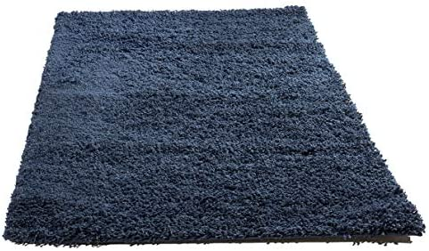 Super Area Rugs Solid Shaggy 8×10 Area Rug, 8 X 10 , Navy Blue