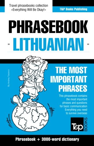 English-Lithuanian phrasebook & 3000-word topical vocabulary...