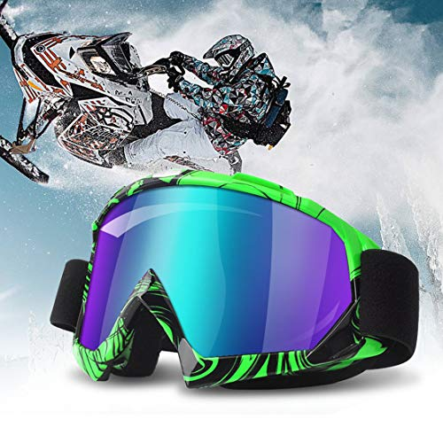 Motorcycle Glasses Riding Goggles (Motorcycle Goggles Green)