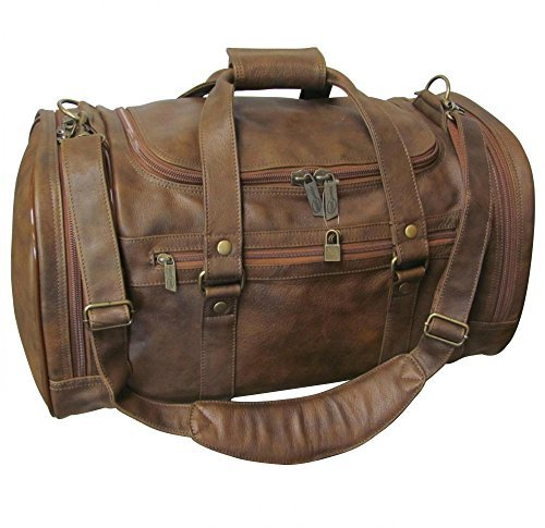 "AmeriLeather 22"" Jumbo Duffel (Camouflage Brown) by Amerileather"