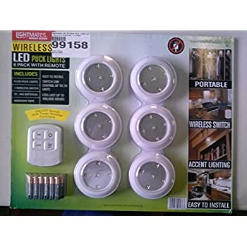 Lightmates led wireless puck lights with remote batteries 6 pack lightmates led wireless puck lights with remote batteries 6 pack aloadofball Gallery