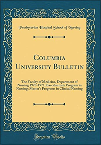 Columbia University Bulletin: The Faculty of Medicine, Department of