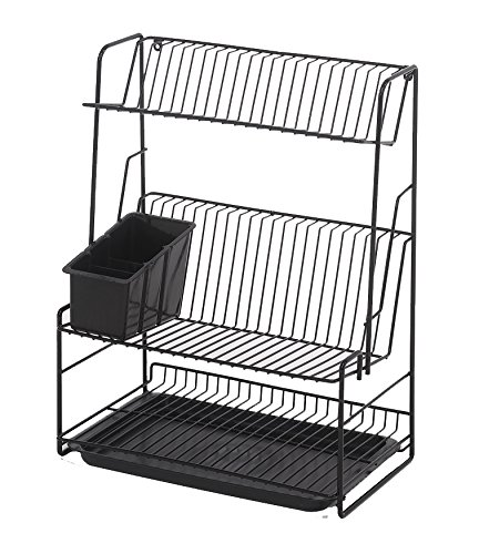 Delfinware Stainless Steel 3 Tier Plate Rack Amazon Co Uk Kitchen