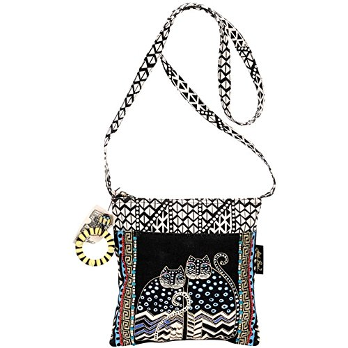 laurel-burch-crossbody-tote-with-zipper-top-spotted-cats