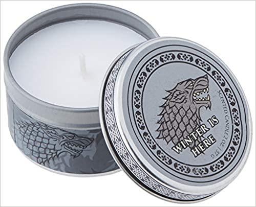Game of Thrones House Stark Scented Candle Scented Tin Candle Small Mint