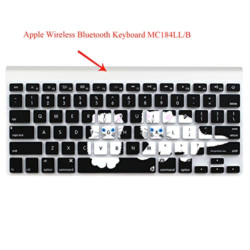 "Masino Silicone Keyboard Cover Ultra Thin Keyboard Skin for MacBook Air 13"" MacBook Pro with Retina Display 13""15"" 17"" (2 Cats)"