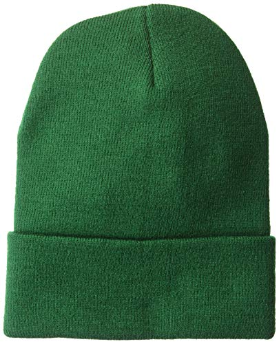 UltraClubs Men's ULTC-8130-Knit Beanie with Cuff, Forest Green, One - Knit Ultraclub Beanie