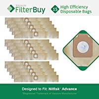 15 FilterBuy Nilfisk Advance Replacement Vacuum Bags, Part # 14240709. Designed by FilterBuy to replace Nilfisk Advance EuroClean Canister Vacuum Cleaners