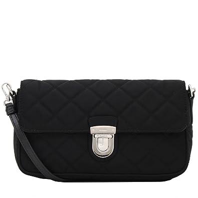 authentic prada tessuto midnight black quilted nylon crossbody shoulder  designer bag for women 1bh025 bc7da ef67d 5f5744cb6bcc4