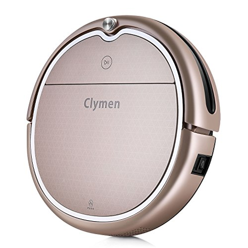 Clymen Q8 Robot Vacuum Cleaner,Connects to WiFi and Compatible with Alexa App, Robotic Vacuum Cleaner for Pet Hair, Voice Control, Thin Carpet and Hard Floor… (Champagne)