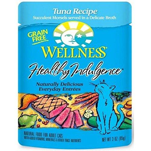Wellness Healthy Indulgence Tuna Recipe Cat Food, 3 Ounce Pouch -- 24 per case.