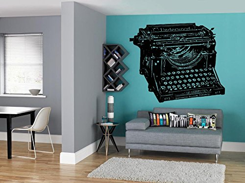 Typewriter Wall Decal Vintage Typewriter Wall Sticker Retro Typewriter Wall  Vinyl School Decor Office Decor Library